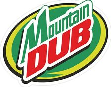 (v10) MOUNTAIN DUB BUMPER sticker laptop window JDM EURO DRIFT DRAG TRACK