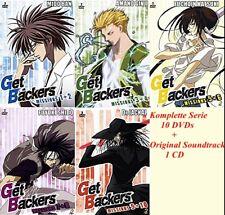 Get Backers ( Anime OmU auf Deutsch ( 10 DVDs + 1 CD Komplette Serie 1-49 )