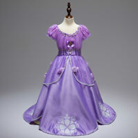 Gorgeous Sofia The First Costume Girls Princess Dress Gown 3-10 [ZG8]