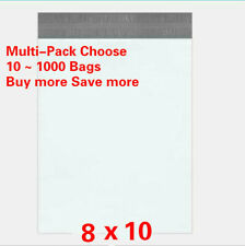 10/100/500/1000 8 x 10 Poly Mailers Shipping Bags Envelopes Packaging 2.5 Mil