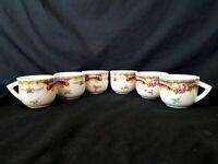 Demitasse Cup Set of 6 T. Limoges Depos Floral Decorazion Esclusiva Porcelain