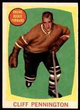1961-62 TOPPS CLIFF PENNINGTON ROOKIE BOSTON BRUINS #19 JM