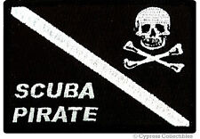 SCUBA DIVING EMBROIDERED PIRATE PATCH Jolly Roger Flag embroidered iron-on SKULL