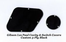 Gibson Les Paul LP 5-Ply Black Rear Cavity Control Cover Set Guitar Project NEW