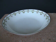 Charles Ahrenfeldt Limoges China Pink Roses & Green Swags Coupe Soup Bowl