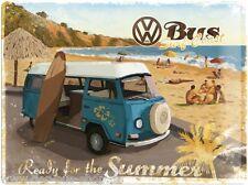 VW Bus T2 - Summer - Blechschild - 30x40cm - Neu & OVP