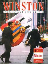 PUBLICITE ADVERTISING  1989   WINSTON  cigarettes