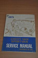 Werkstatthandbuch CHEVROLET 1971 Chevy Van Sportvan Service Manual Series 10- 30