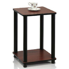 Dark Cherry End Table Night Stand In Door Plant Accent Shelf Chair Side Display