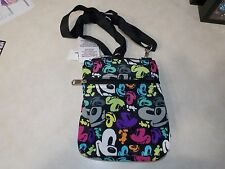 Mickey Mouse Pop Art Crossbody Hipster Bag Purse Faces Disney World Parks NEW