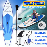 10ft-16ft Inflatable Surfboard SUP Stand Up Paddle Board Paddle Pump + Carry Bag