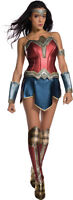 Wonder Woman Movie Adult Sexy Costume Red & Blue Strapless Fancy Dress Rubies