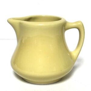 Vintage Hall Restaurant Ware Individual Creamer Retro Diner USA Yellow Ceramic