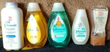 New listing 5 bottles Johnson's Baby Shampoos, Wash, Baby Oil Gel, Baby Powder