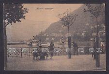 COMO CITTÀ 122 LAGO DI COMO - BATTELLI Cartolina viaggiata 1918