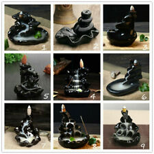 Ceramic Glaze Incense Burner Holder Buddhist Sandalwood Cones Backflow Censer