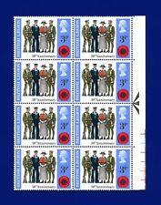 1971 SG887 3p British Legion Traffic Light Block (6) MNH Unmounted Mint angi