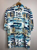 KAHALA AVi Hawaiian Islands Men's Aloha SS Shirt Medium Surfer 100% Rayon (EUC)