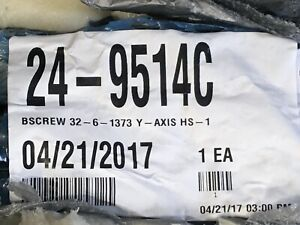 "HAAS 1373mm BALLSCREW 32-6-1373.6 - 1.350"" REVERSE Part No. 24-9514C NEW IN BOX"