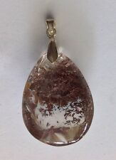 82.15ct Scenic Quartz Crystal Pendant  925 Sterling Silver Overlay