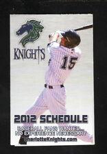 2012 Charlotte Knights Schedule--Carolinas Medical Center