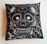 Day of the Dead Sugar Skull Tattoo Art Cushion Pillow Case Cover Square