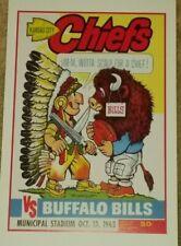 1963 Kansas City Chiefs vs. Buffalo Bills Poster - AFL - Len Dawson - Mahomes