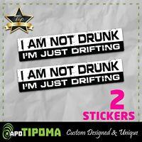 NOT DRUNK DRIFTING sticker vinyl decal funny car truck race JDM bumper window VW