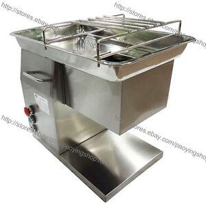 500KG/H S/S 2.5-25mm Blade Electric Fresh Meat Chicken Cutter Slicer Machine