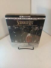 Schindler's List Steelbook (4K+Bluray/Digital)NEW-Box SHIPPING-Ready to Ship Now
