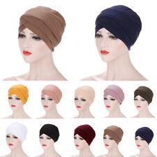 Indian Women Hijab Turban Bonnet Chemo Cap Hat Under Scarf Wrap Headwear Cover
