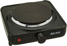 Portable Electric Stove Single Burner Travel Compact Small Hot Plate Dorm Black!