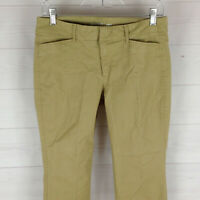 Old Navy Pixie womens size 4 stretch solid beige flat front tapered chinos EUC