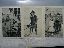 Alaska C-1910 Eskimo lot of 3 Series 5 & 6 postcard vtg antique rare