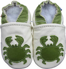 carozoo crab cream 0-6m soft sole leather baby shoes