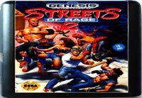 Streets Of Rage 2 (1992) 16 Bit Game Card For Sega Genesis / Mega Drive System