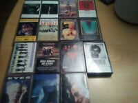 Classic rock cassette tapes lot of 15 Alice cooper .spirit .toto