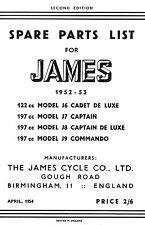 1952-1953 James Cadet Captain Commando parts book