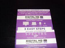 James Bond Collection 24 Films on Digital HD Ultraviolet Code Only