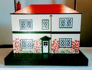 Vintage 1960's Hobbie's Dolls House 4 Large Rooms, Stairs, Hall Gently Restored