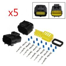 210pcs 10 Pin Way Car Waterproof Electrical Connector Plug Wire Terminal Sockets