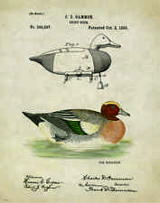 "Duck Hunting Antique Decoys Patent Poster Art Print 11"" x 14"" Goose Calls PAT214"