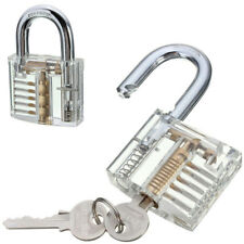 Pick Cutaway Visable Padlock Lock For Locksmith Practice Training Skill Set SV