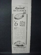 1922 Ingersoll Yankee Pocket Watch 7-Jewel Watch Vintage Print Ad 12113