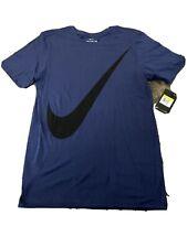 Nike Big swoosh Xploded Swoosh 2 T shirt Blue/Black Cu2539-133 sz Small Nwt