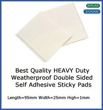 8 X Heavy Duty Weatherproof Number Plate Adhesive Sticky Pads Fixings Free P&P