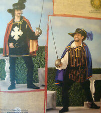 Simplicity 2334 MUSKETEER CAVALIER SWORDSMEN sz LG-XL 42-48 Costume Sew Pattern