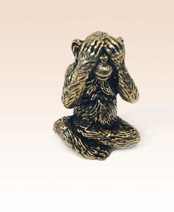 Miniatur Bronze Figur Affe Skulptur Kunst manuelle Verarbeitung selten +