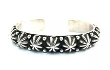 Native American sterling silver  Navajo Old  Look Stamp Design Cuff bracelet