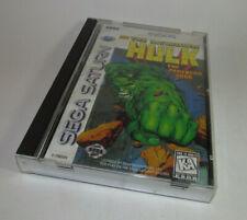 Incredible Hulk: The Pantheon Saga (Sega Saturn, 1997) Complete CIB w/ Reg Card